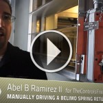 How to manually drive a spring return actuator...