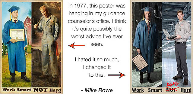 Work Smart Not Hard Poster Comparison